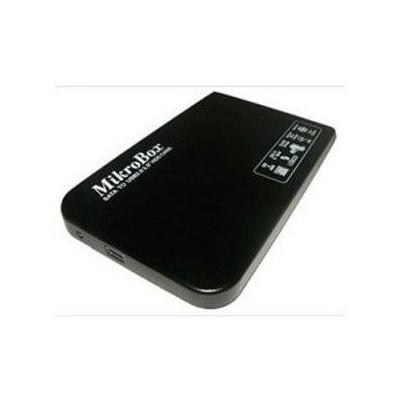 """Mikrobox K25wın 2.5"""" Sata Harddisk Kutusu.usb 2.0 Bağlatı Imkanı Siyah Renk Harici Disk Kutusu"""