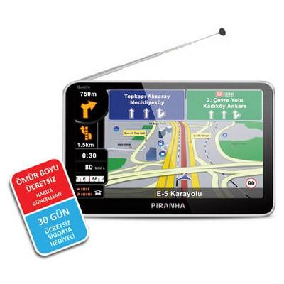 Piranha 8698720982403 Quattro 5.0 Inç Tv Özellikli Gps Navigasyon Sistemi Araç Navigasyonu