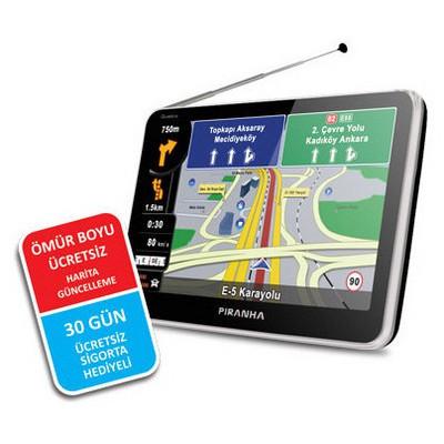 Piranha 8698720982403 Quattro 5.0 Inç Tv Özellikli Gps Navigasyon Sistemi Oto Aksesuarı
