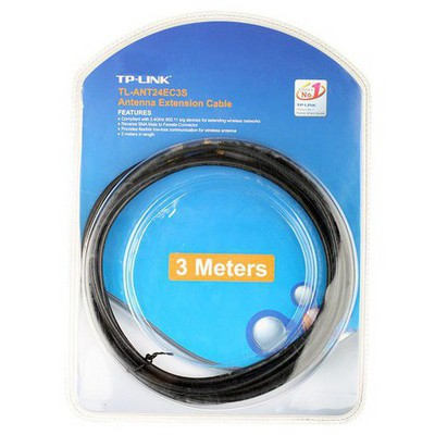 Tp-link TL-ANT24EC3S 2.4 GHZ RP-SMA ERKEK ve DİŞİ KONNEKTÖR 3 M ANTEN Network Kablosu
