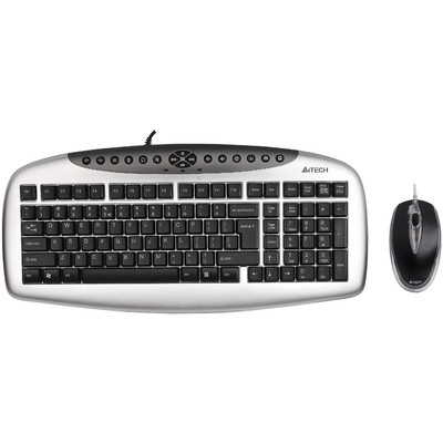 A4 Tech Kb-2103d Ps2 Q Klavye Mouseset Gümüş/siyah Klavye Mouse Seti