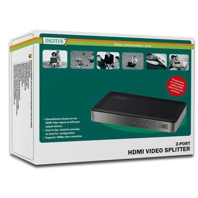 Digitus Ds-41301 2 Port Hdmı Çoklayıcı Splitter Çevirici Adaptör