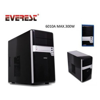 Everest 6010a 300w Microatx  / Piano Siyah Kasa