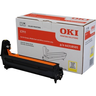 OKI 44318505 Sarı  / C711 / 20000 Sayfa Drum