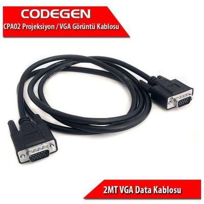 Codegen (cpa02) 2mt. Projeksiyon Data Kablosu Ses ve Görüntü Kabloları