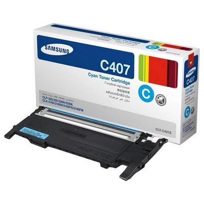 Samsung CLT-C407S Mavi Toner
