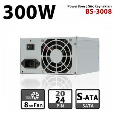 Boost Jpsu-bs3008 Power Bs-3008 300w 8cm Fan, Atx Power Supply (retail Box)