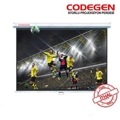 Codegen Cod-a18 180x180 Storlu Ithal Projeksiyon Perdesi (arkası Siyah Fonlu) Projeksiyon Aksesuarı