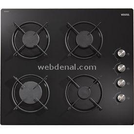 Vestel Siyah Cam Ankastre Ocak SC6042DY AOB6014 Fırın