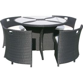 Andoutdoor Masa 1 Sandalye 4 Takım Ost F50001 Siyah 8026) Bahce-mob-f50001s Bahçe Mobilyası
