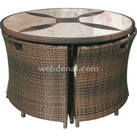 Andoutdoor 1 Masa 4 Sandalye Bej Ost-f50001 (086) Bahce-mob-f50001b Bahçe Mobilyası