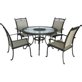 Andoutdoor Masa + 4 Sandalye Gla41-50-143 Bahce-mob-50-143 Bahçe Mobilyası