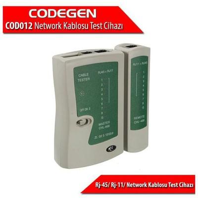 Codegen Cod012 Rj-45/ Rj-11/ Network Kablosu Test Cihazı + Pil Dahildir Ağ / Modem Aksesuarı