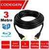 CPS30, 3mt, Altın Uçlu HDMI Kablo