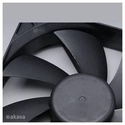 Akasa 12cm Klasik Siyah Fan (AK-DFS122512L)
