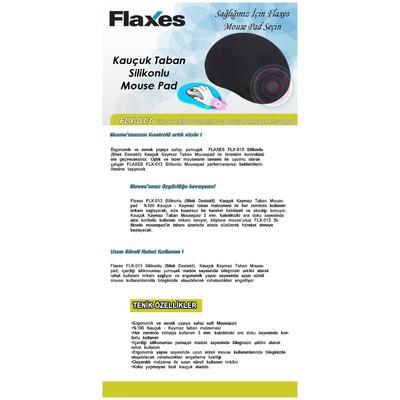 Flaxes Flx-013 Silikonlu ,siyah Mouse Pad