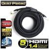 Dark DK-HD-CV14L500 v1.4 5mt, 4K / 3D, Ağ Destekli, Kılıflı, Dual Molding, Altın Uçlu HDMI 0 HDMI Kablolar