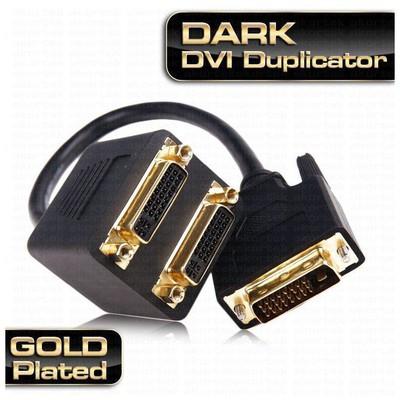 Dark DK-HD-ADVIX2DVI 2 Port DVI Çoklayıcı Splitter Ses ve Görüntü Kabloları