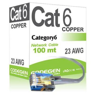 codegen-cod613-100-metre-cat6-utp-network-kablosusu-gri-renk