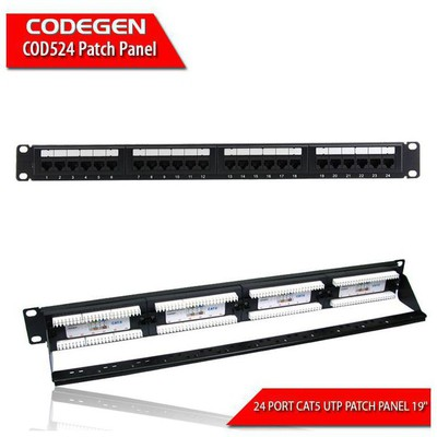 Codegen COD524 24 PORT CAT5E UTP 1U PATCH PANEL 19 Sunucu Aksesuarları