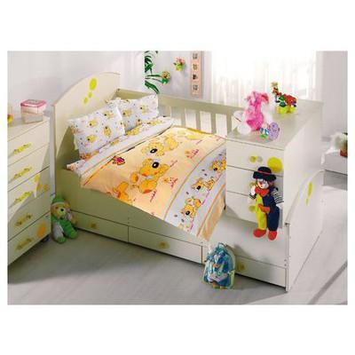 Altınbaşak Sevimli Bebek Nevresim Takımı - Sarı Ev Tekstili