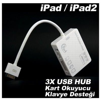 Dark Dk-ac-ıpchub Ipad/ipad2 5in1 Çoklu Kart Okuyucu Ve 3xusb Combo Bağlantı Kiti Cep Telefonu Aksesuarı