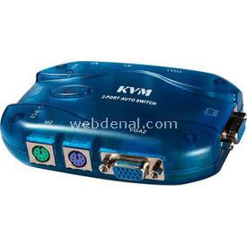 Artes KVM-42 KVM SWTH PS2 2 PC-1 MONİTÖR(TEK KABLO  KVM Switch