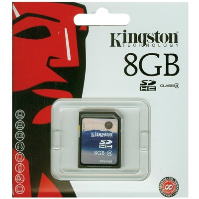 Kingston 8gb Secure Dıgıtal Kart Bellek Sd4/8gb SDHC