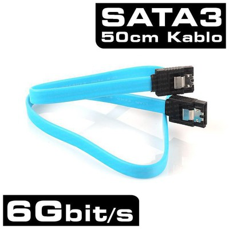 Dark SATA III 50cm HDD/Optik Kilitli Bağlantı Kablosu -DK-CB-SATA3L50 Kasa İçi Kablolar