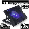 TX Ergonomix 14cm Led Fanli 4xusb Hub Nb Soğutucuacnbergo Notebook Soğutucu