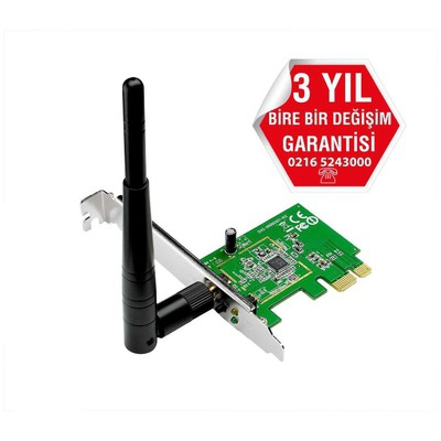 Asus Pce-n10 Wı-fı N150 Pcı Exp Adaptor Anten / Ağ Adaptörü