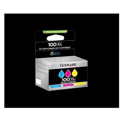 Lexmark 14N0850 100XL Renkli Kartuş