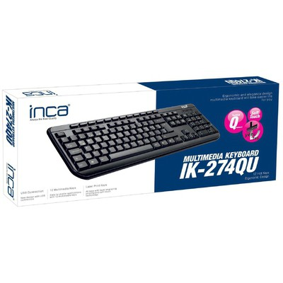 Inca IK-274QU USBQ TürkçeMultimedya KlavyeSiyah