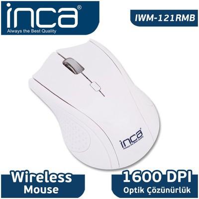 Inca Iwm-121rmb Kablosuz,nano Alıcılı,3b+1,1600 Dpı Optik ,beyaz Mouse