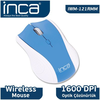Inca IWM-121RMM Kablosuz Mouse - Mavi