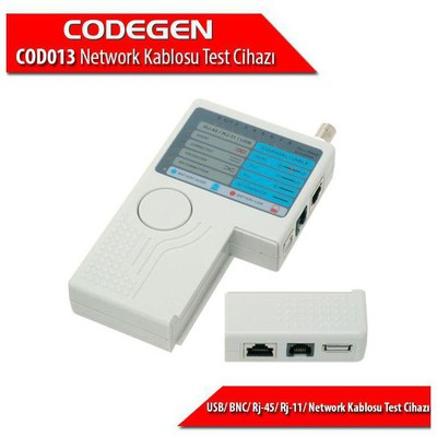 Codegen Cod013 Rj-45/ Rj-11/ Usb/ Bnc Network Kablosu Test Cihazı Ağ / Modem Aksesuarı