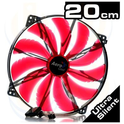 Aerocool Ae-cfsl200r 200mm Silent Master Kırmmızı Ledli Şeffaf Sessiz Kasa ı Fan