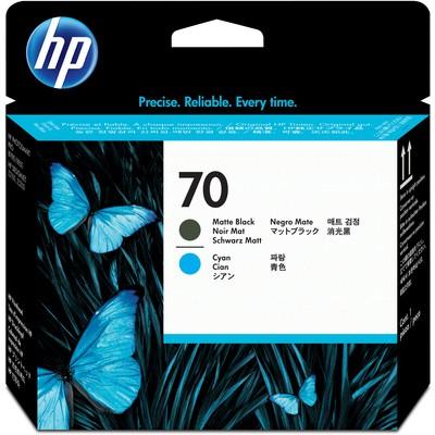 HP C9404A 70 Mat Siyah ve Mavi Baskı Kafası Kartuş