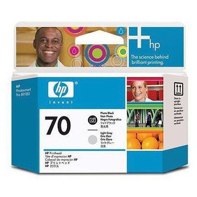HP 70 Siyah Fotoğraf Ve Açık Gri Baskı Kafası C9407A