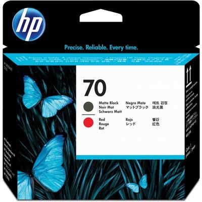 HP 70 Mat Siyah Ve Kırmızı Baskı Kafası C9409A