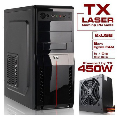 TX Laser 450w Midi Tower Kasa - TXCHLASER450