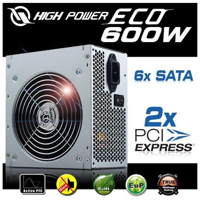 Highpower High Power Eco 600w 24+6pin 12cm Fan Aktif Pfc Psu Güç Kaynağı