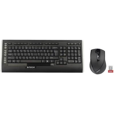 A4 Tech 9300f Q Kablosuz Mm Vtrack Mouse Set Siyah Klavye Mouse Seti