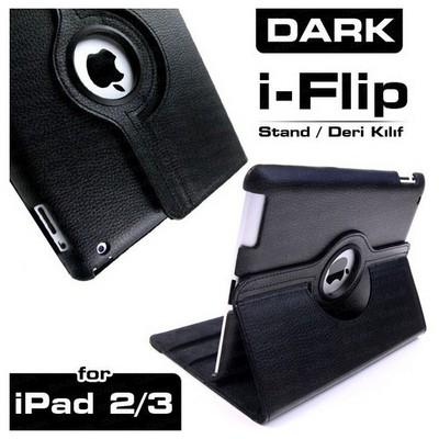 Dark Dk-ac-ıpkrt01 Ipad 2/3/4 Uyumlu 360 Derece Dönebilen Smart Cover Siyah Renk Tablet Kılıfı