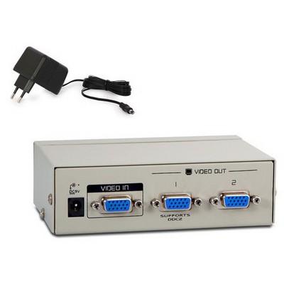 S-Link Sl-2502 2 Port Vga Çoklayıcı Splitter Ses ve Görüntü Kabloları