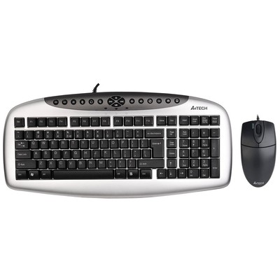 A4 Tech KB-21620D KLAVYE Mouse SET / Siyah / USB Klavye Mouse Seti