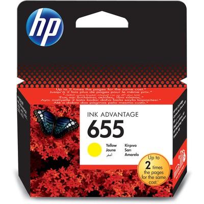 HP 655 Sarı CZ112A Kartuş
