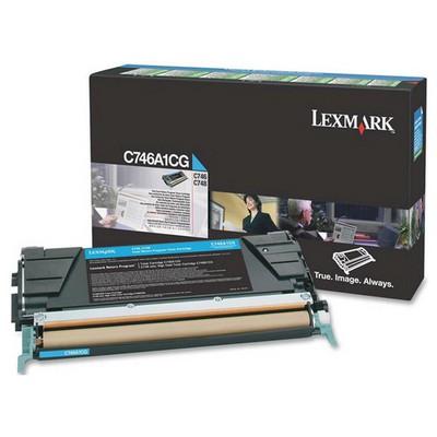 Lexmark C746A1CG Mavi Toner