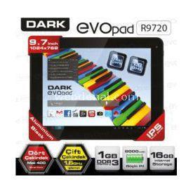 "Dark EVOPAD (DK-PC-EVOR9720), R9720, 9.7"", 1GB, 16GB, ANDROİD 4.1, TABLET Tablet"