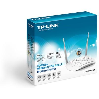 Tp-link TD-W8968 300Mbps Kablosuz N USB ADSL2+ Modem Router